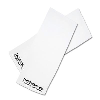 【白・片袖】海外製フェイスタオル
